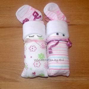 Windelbabys für Mädchen, Zugabe zu Geldgeschenk für ein neugeborenes Baby Bild 2