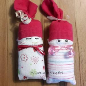 Windelbabys für Mädchen, Zugabe zu Geldgeschenk für ein neugeborenes Baby Bild 3