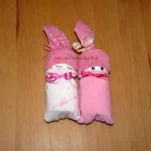 Windelbabys für Mädchen, Zugabe zu Geldgeschenk für ein neugeborenes Baby Bild 4