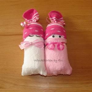 Windelbabys für Mädchen, Zugabe zu Geldgeschenk für ein neugeborenes Baby Bild 5