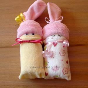 Windelbabys für Mädchen, Zugabe zu Geldgeschenk für ein neugeborenes Baby Bild 6