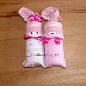 Windelbabys für Mädchen, Zugabe zu Geldgeschenk für ein neugeborenes Baby Bild 7