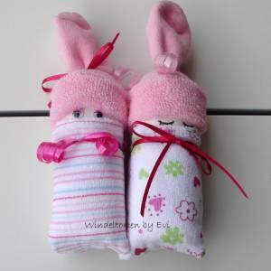 Windelbabys für Mädchen, Zugabe zu Geldgeschenk für ein neugeborenes Baby Bild 8