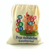 Eselspiel 121 Teile - Holz + Stoffbeutel - Handarbeit 2-6 Spieler Familienspiel Bild 3