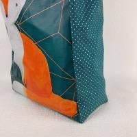 """Up-Cycling Shopper """"Fuchs"""" Einkaufstasche - shopping bag - Einkaufstüte - Tasche Bild 4"""