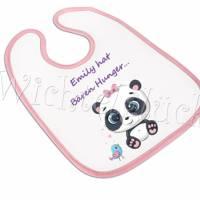 """Babylätzchen , Lätzchen, große Lätzchen,Geschenk rosa mit Name """"Nr. 69-29"""" Bild 1"""