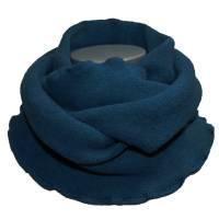 Winter Loopschal Damen Loop Schal Boucle Fleece Blau Bild 1