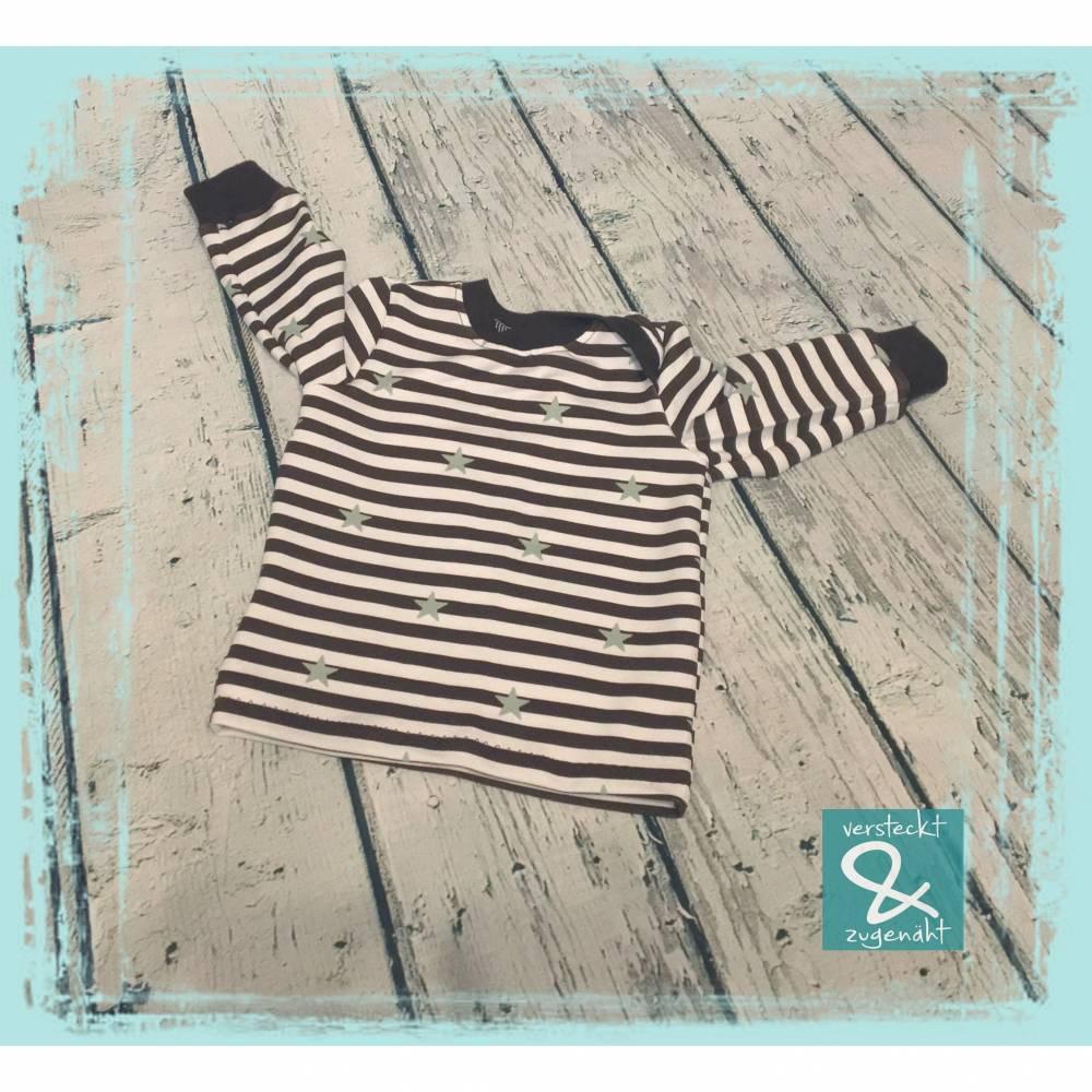 Baby Langarmshirt Streifen/Sterne, Größe 68 Bild 1