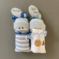 Windelpüppchen für Junge, Zugabe Geldgeschenk für Baby zur Geburt, Babygeschenk Bild 2