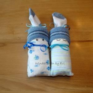 Windelpüppchen für Junge, Zugabe Geldgeschenk für Baby zur Geburt, Babygeschenk Bild 3