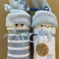 Windelpüppchen für Junge, Zugabe Geldgeschenk für Baby zur Geburt, Babygeschenk Bild 4