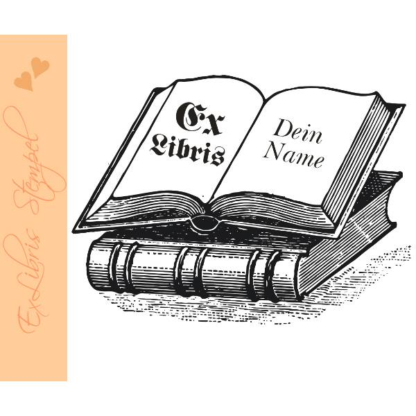 Exlibris Stempel - Ex Libris Stempel Bücher - Exlibrisstempel Buchmotiv No.exl-10245 Bild 1