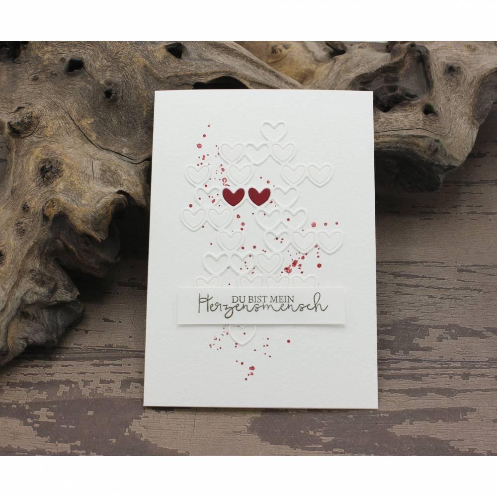 Liebeskarte, Karte zum Valentinstag, Grußkarte für deinen Herzensmensch Bild 1