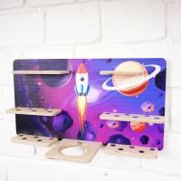 Regal Ablage für Musikbox und Toniefiguren, Aufbewahrung für Tonies, Halterung für Toniebox, Wandregal Motiv: Weltraum Bild 3