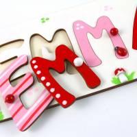Puzzle Namen, Steckpuzzle, Puzzle Baby, Taufgeschenk, Geschenk mit Namen, Namenspuzzle, Holzpuzzle Bild 8