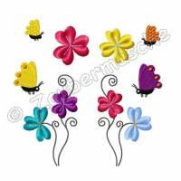 Blumen, Blüten, Schmetterlinge Stickdateien für den 10x10-Rahmen Bild 1
