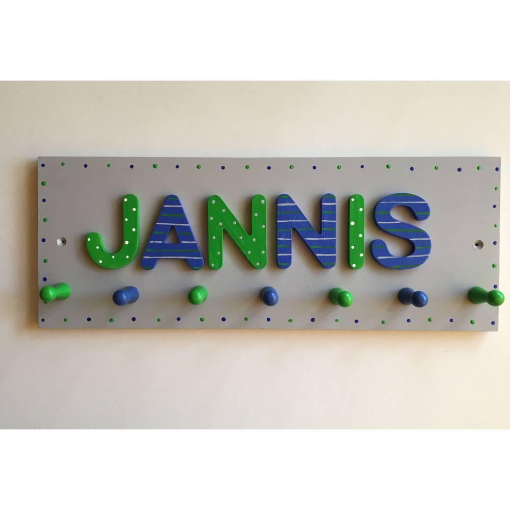 Kindergarderobe Buchstabengarderobe Kleiderhaken Buchstaben Farbauswahl Bild 1