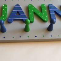 Kindergarderobe Buchstabengarderobe Kleiderhaken Buchstaben Farbauswahl Bild 2