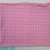 Schlauchschal / Schlupfschal / Loop / Halswärmer Gr. L aus Jersey, warm gefüttert, rosa mit kleinen Sternen Bild 2