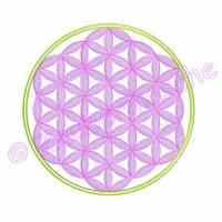 Blume des Lebens 6 Eck gestickt, Stickdateien für den 13x18-Rahmen Bild 2