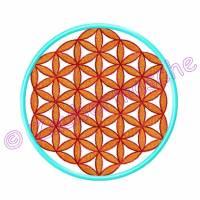 Blume des Lebens 6 Eck gestickt, Stickdateien für den 13x18-Rahmen Bild 3