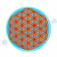 Blume des Lebens 6 Eck gestickt, Stickdateien für den 13x18-Rahmen Bild 4