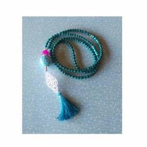 MEIN BLAUES ICH/lange kette/bettelkette/quastenkette/orientalischer schmuck/blau/türkis/geschenk für sie/lange kette/yoga/classic blue