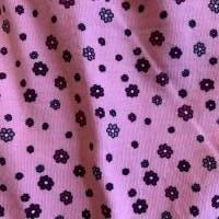 Babyhose / Baggy Pants aus tollem rosa Baumwolljersey mit kleinen Blümchen Bild 5