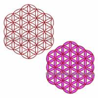 Blume des Lebens 6 Eck ohne Rand, Stickdateien für den 10x10-Rahmen Bild 1