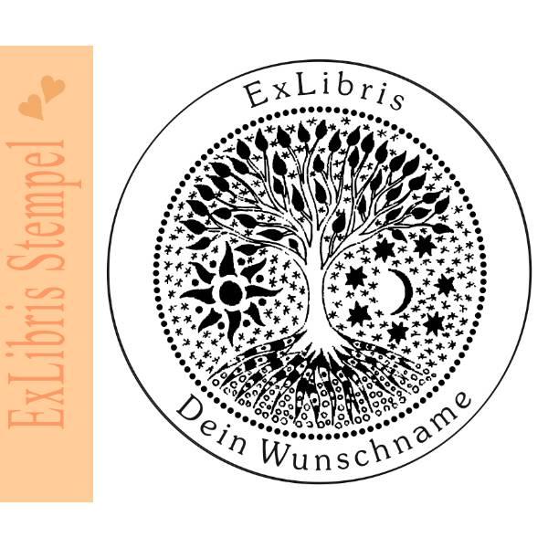Exlibris Stempel - Ex Libris Stempel - Exlibrisstempel Baummotiv No.exl-10397 Bild 1