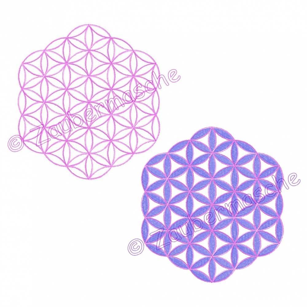 Blume des Lebens 6 Eck ohne Rand, Stickdateien für den 13x18-Rahmen Bild 1