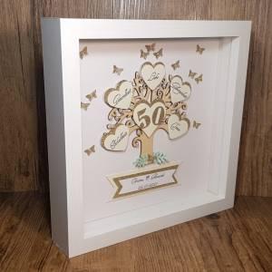 Personalisierter Bilderrahmen zur goldenen Hochzeit, originelles Geschenk zur Goldhochzeit, Ehejubiläum, Erinnerungsgesc Bild 2