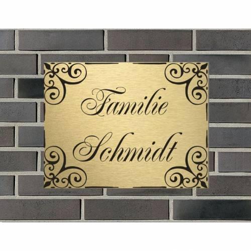 Haustürschild Klingelschild Namensschild Eingangsschild Pokalschild Briefkastenschild Türschild Familie Gravur verschiedene Größen