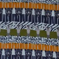 Jersey mit Zebras und Panther Safari Streifen Leomuster 50 cm x 150 cm Bild 2