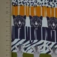 Jersey mit Zebras und Panther Safari Streifen Leomuster 50 cm x 150 cm Bild 5