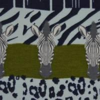 Jersey mit Zebras und Panther Safari Streifen Leomuster 50 cm x 150 cm Bild 6