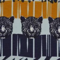 Jersey mit Zebras und Panther Safari Streifen Leomuster 50 cm x 150 cm Bild 7