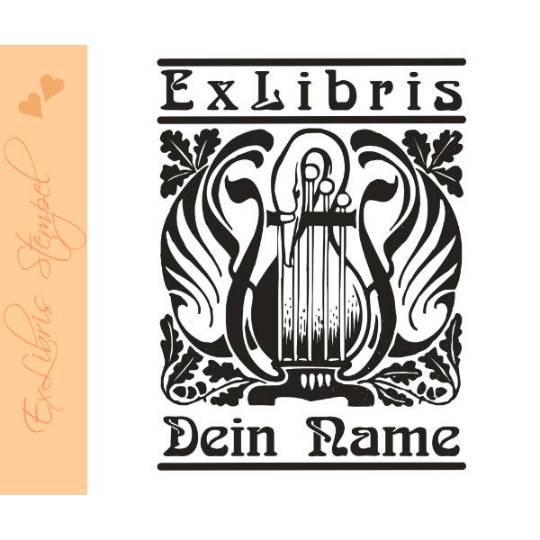 Exlibris Stempel - Ex Libris Stempel - Exlibris Stempel Jugendstil - Bücherstempel Jugendstil No.exl-10224 Bild 1