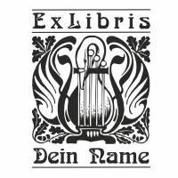 Exlibris Stempel - Ex Libris Stempel - Exlibris Stempel Jugendstil - Bücherstempel Jugendstil No.exl-10224 Bild 2