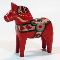 Schönes altes Dalapferd / Dalahäst aus Schweden Bild 2