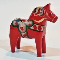 Schönes altes Dalapferd / Dalahäst aus Schweden Bild 3
