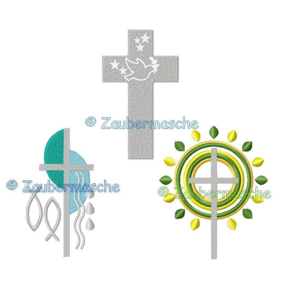 Kreuze Stickdatei für den 10x10-Rahmen Bild 1