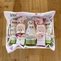 Pflegekörbchen mit Windelbabys für Mädchen, Windeltorte Bild 7