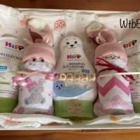 Pflegekörbchen mit Windelbabys für Mädchen, Windeltorte Bild 8