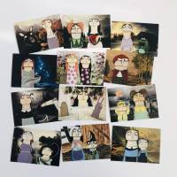 Kunstpostkarten Märchen lacaluna Postkarten, Grußkarten, Geburtstagskarten, Papier, Glückwunschkarten, Malerei, Acrylbil Bild 4