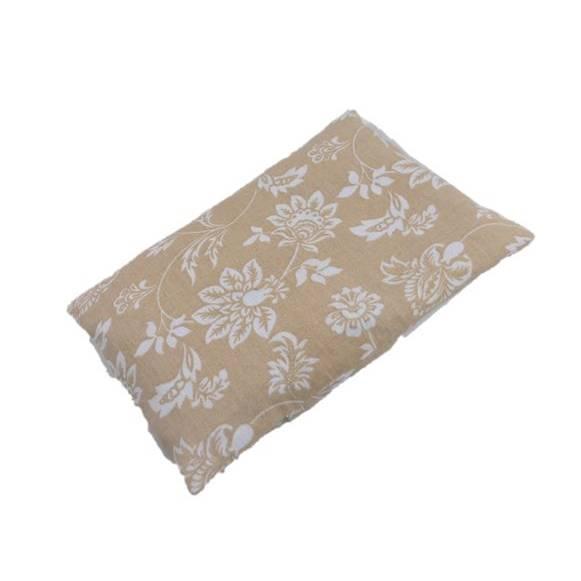 1 Stück Reissäckchen, Blumen, beige, Reislagerungssäckchen, Variante mit abnehmbarem Bezug, Skolioseerkrankung Bild 1