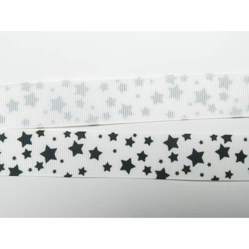 Ripsband 22mm Sterne