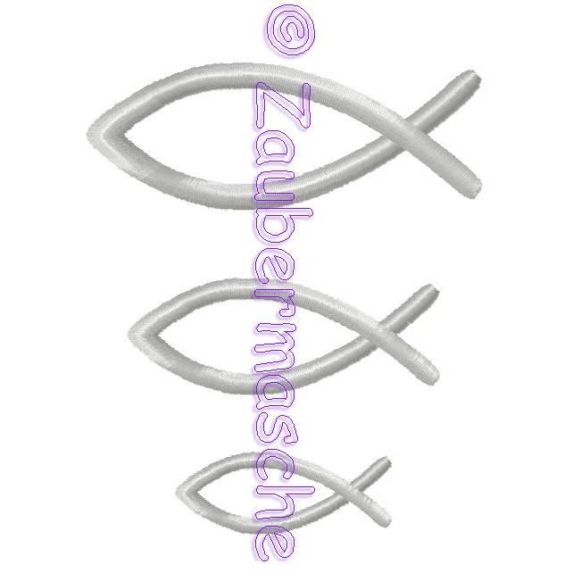 Fische Stickdatei für den 10x10-Rahmen Bild 1
