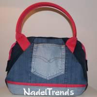 Jeans-Shopper blau - pink Bild 1