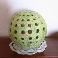 Keramikkugel Leuchtkugel  Teelicht